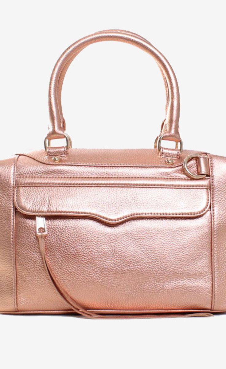 REBECCA MINKOFF l Rose Gold Shoulder Bag