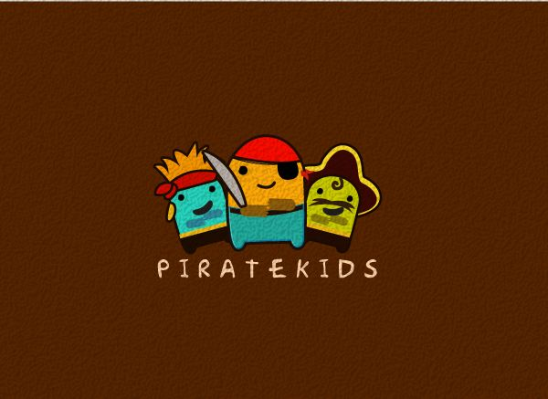 Pirate Kids from Logo Design Genius  —Liked these because the shapes of the characters kind of look like teeth.