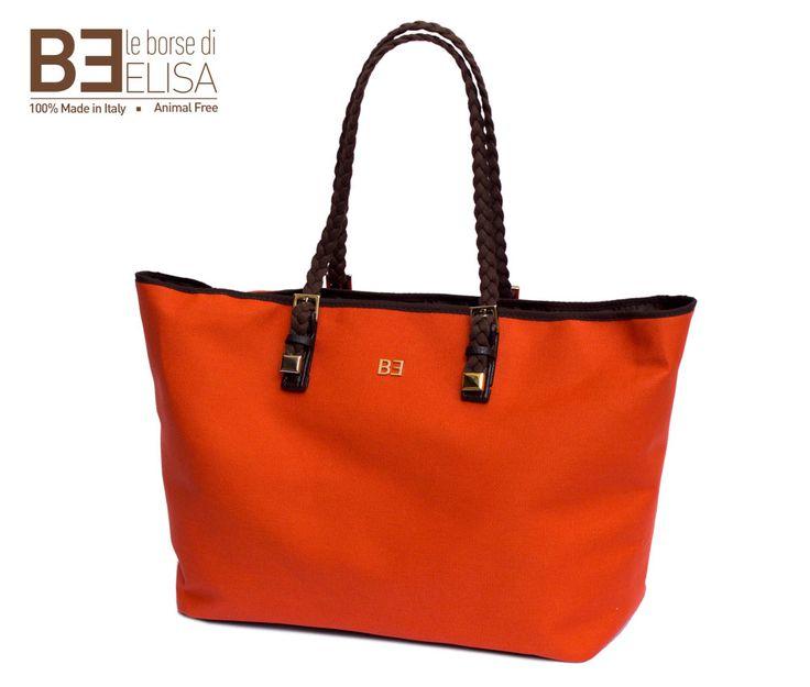 #ColorPower #orange. Bella, capiente e coloratissima. #MadeinItaly e #crueltyfree! #ILOVESHOPPINGBAG