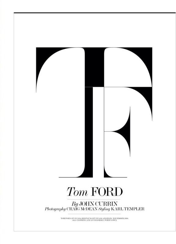 Tom Ford Font Typography Graphic Design Typography Typography