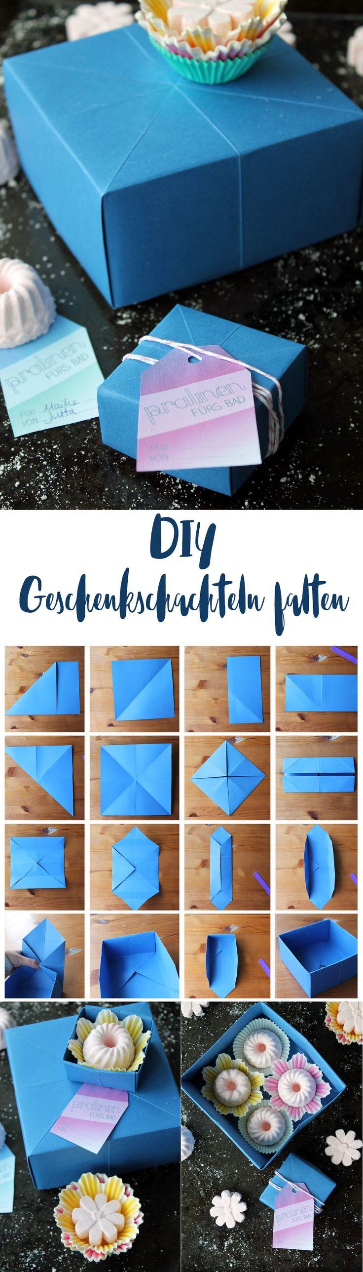 DIY Geschenkschachteln falten - Schritt für Schritt Anleitung auf Kreativfieber - DIY Papier