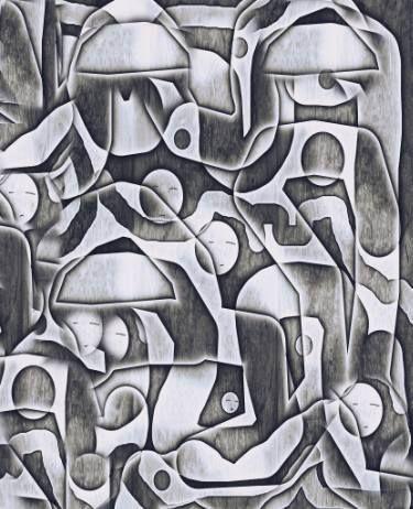 "Saatchi Art Artist ageliki baka; Painting, ""Factory II - Limited Edition 1 of 7"" #art"