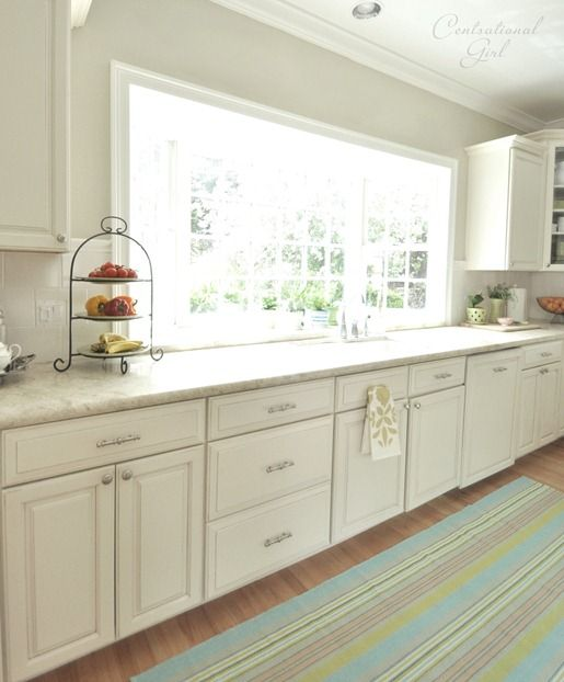 17 best ideas about white kitchen cabinets on pinterest for Best off white cabinet paint color