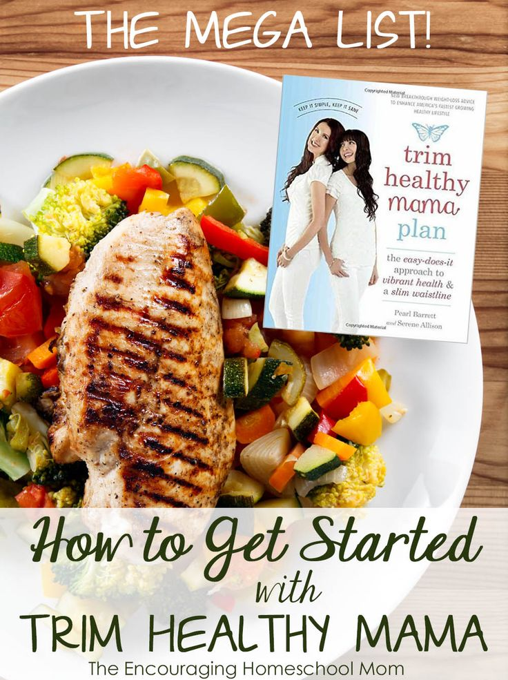 The MEGA List of Getting Started with Trim Healthy Mama!