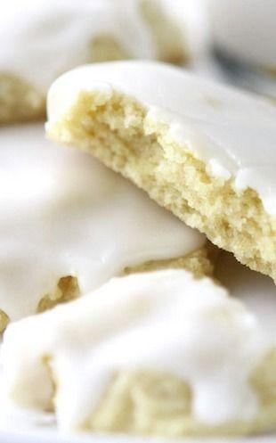 Chewy Glazed Lemon Sugar Cookies