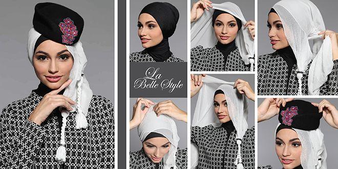 Tren Hijab Tutorial 2014 La Belle Style «  Shafira - Gaya Islami   Trend Busana Muslim Modern, Busana Muslimah terkini, Sarimbit, Dress Musl...