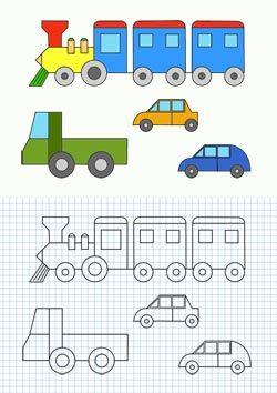 Cornicette con mezzi di trasporto