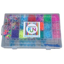 Rainbow Loom Storage Box - 22 Compartments