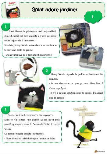 Splat adore jardiner ! - Lecture suivie CP et CE1 - Le petit cartable de Sanleane