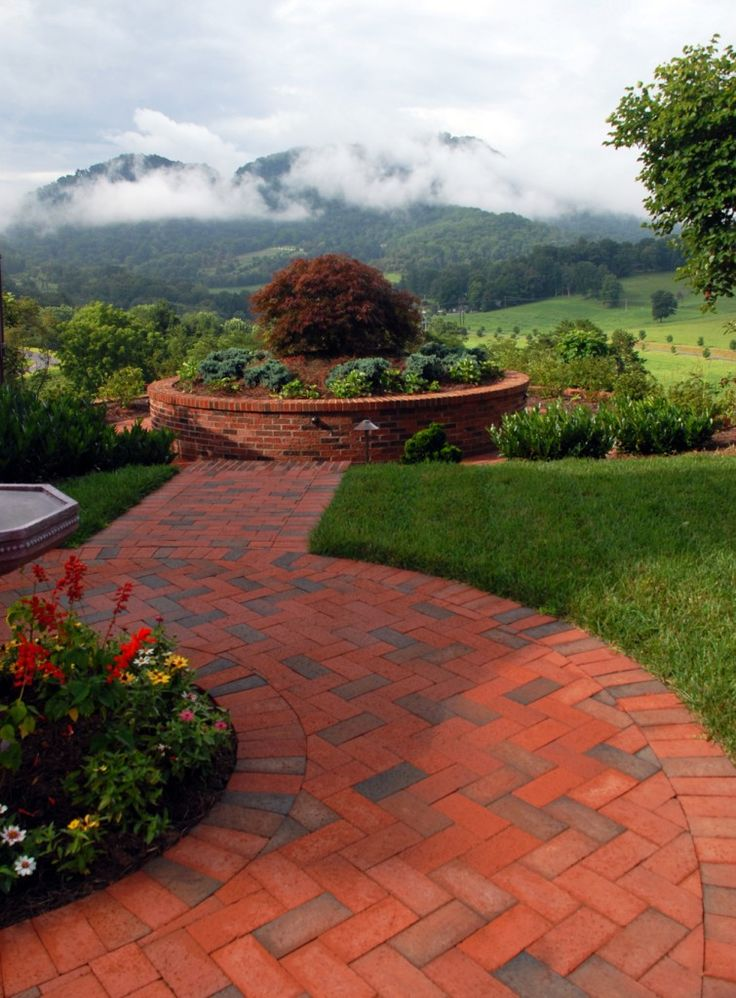 Incredible View From This Pathway Full Range Patio In The Mountains Of  North Carolina.