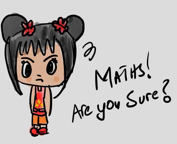 "Kai-lan says ""Maths, are you sure?"""