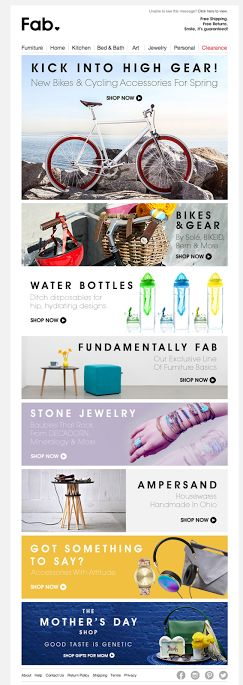 Fab email design 2014