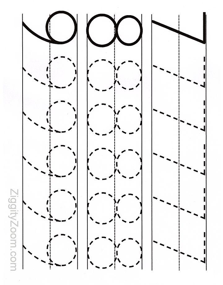Number Tracing Worksheet 7 - 9
