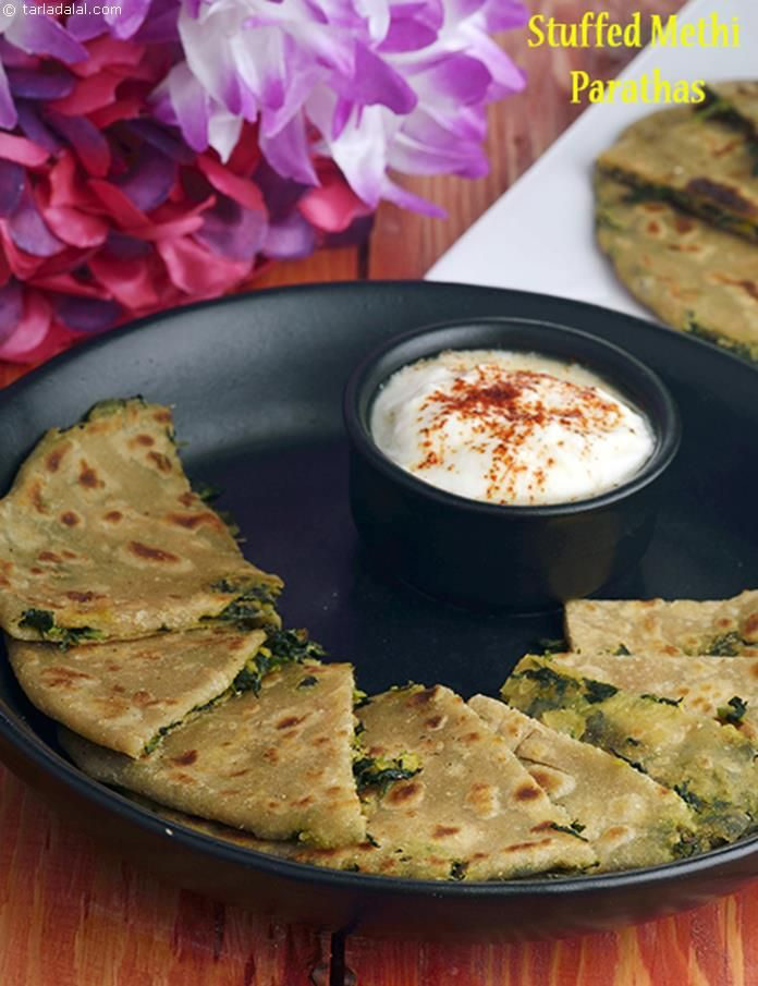 Stuffed Methi Parathas