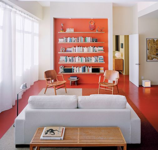 Dwell Magazine Orange Room