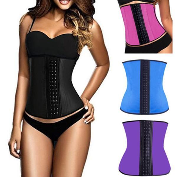 Latex waist cincher latex waist trainer waist corsets latex corset corselet