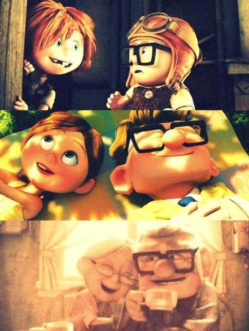 Carl and Ellie en UP, Una Aventura de Altura | Animated ...