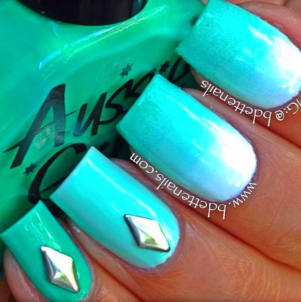 Loving this mani done with our awesome #7 Crikey Croc!! Fresh! Fresh! Fresh!   You can purchase this colour and more at www.aussiegirlcosmetics.com
