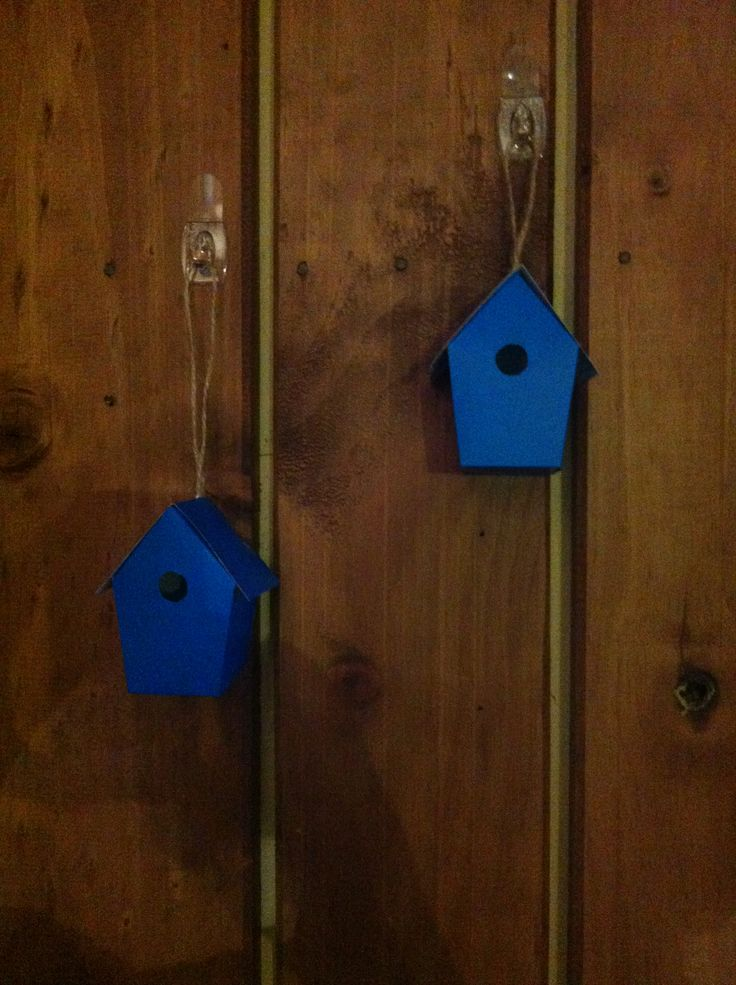 Mini bird houses made on holiday from the Wild South bag