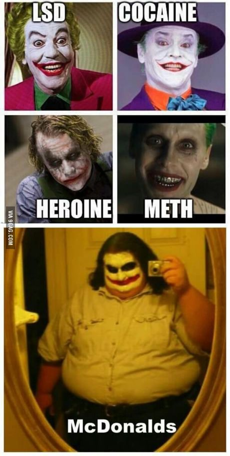 5 types of Joker- really, this should not be this funny...but it is
