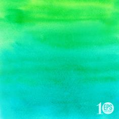 Vector green and blue hand drawn watercolor background vector art illustration