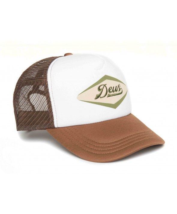 DEUS Diamond trucker cap - brown