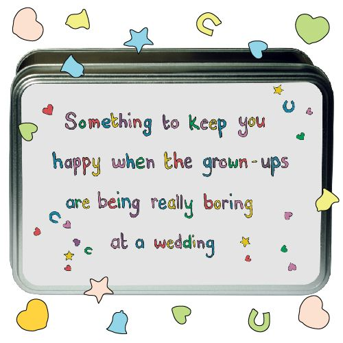 Activity Tin for Children at Weddings