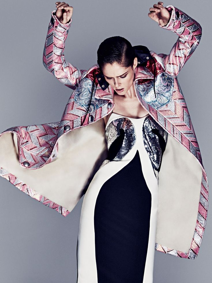 Coco Rocha's Pattern Poses By Darren McDonald For Sunday Style November 23, 2014 - 3 Sensual Fashion Editorials | Art Exhibits - Anne of Carversville Women's News