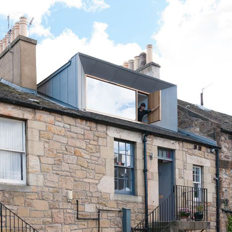 Scottish studio Konishi Gaffney has constructed a huge dormer window to convert the loft of a terraced house in Edinburgh into an extra bedroom.