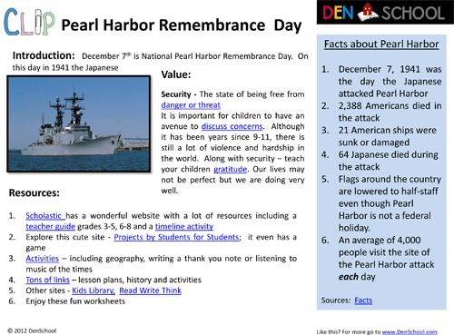 Worksheets For The Pearl : Pearl harbor remembrance day clip resources and worksheets