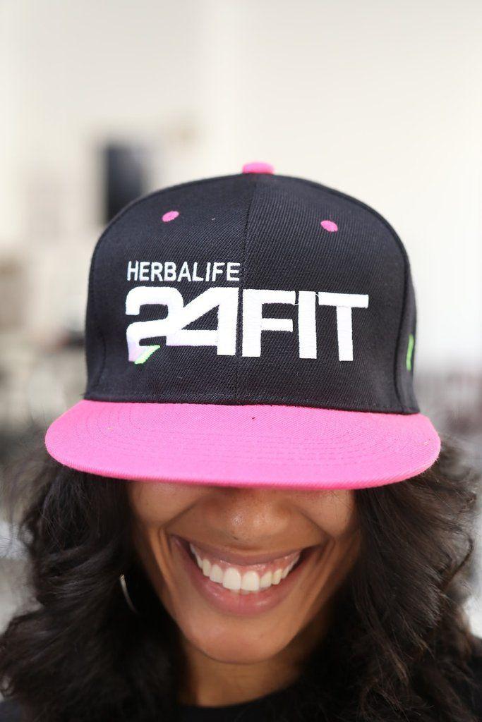 Herbalife 24 FIT snapback, black/hot pink