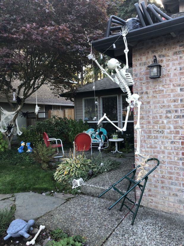 skeletons in the garden halloween decorations \u2013 home is what you