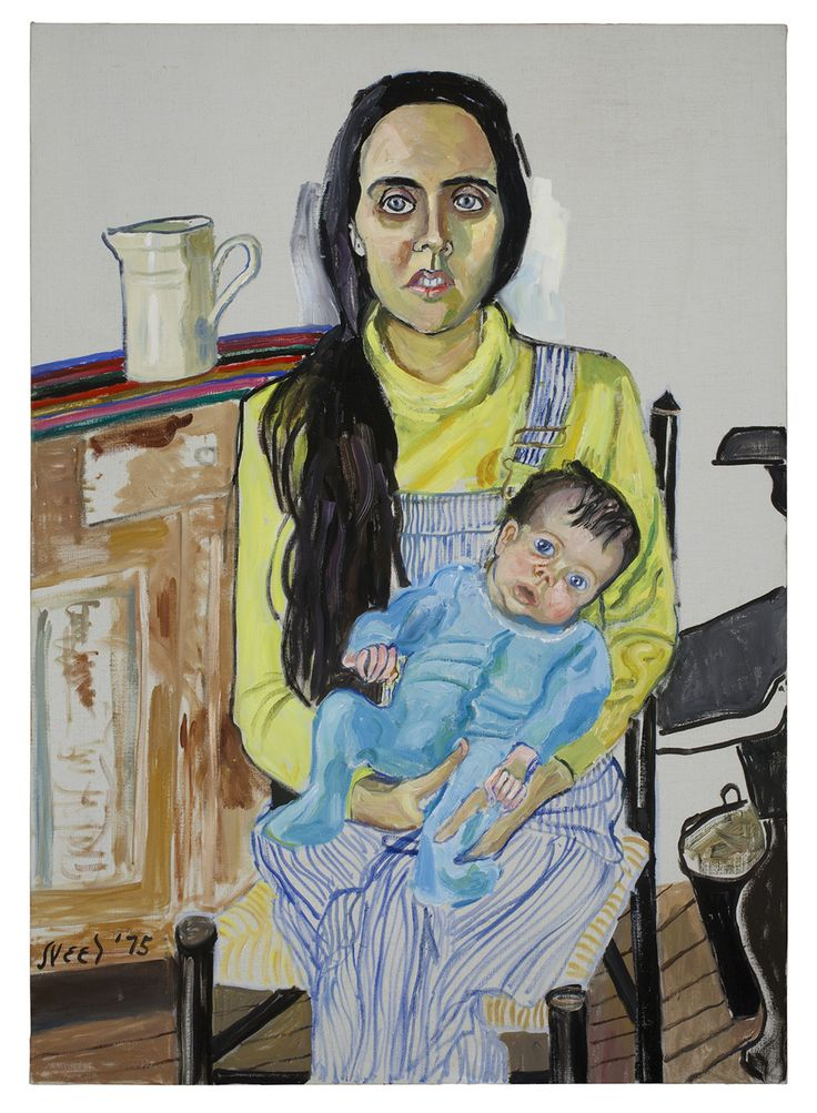 Alice Neel: Ginny ja Elizabeth, 1975. Estate of Alice Neel. Kuva: Malcolm Varon, New York © Estate of Alice Neel