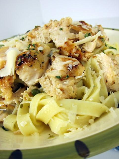 Grilled Chicken Piccata Pasta | Plain Chicken