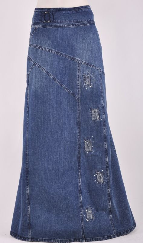 Long Jean Skirt. Would love to make this myself!!!!
