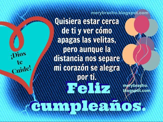felicitaciones cristianas a una hija | Feliz Cumpleaños en la Distancia. Felicitando a mi hijo, hija, amigo ...
