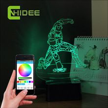 CNHidee Abajur 0-5w 3d Iron Man Led Table Light Music Night Lamp for Baby Bedroom Home Decor Desk Lampara