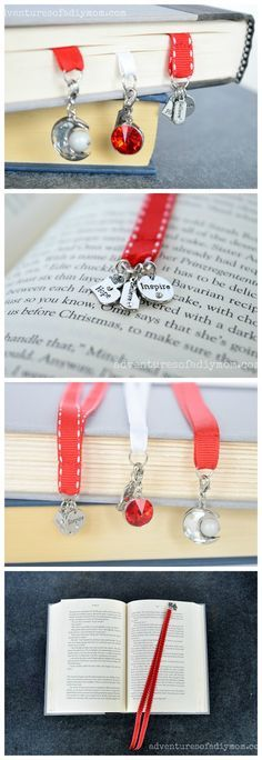 Ribbon Bookmarks - a simple 5 minute project.