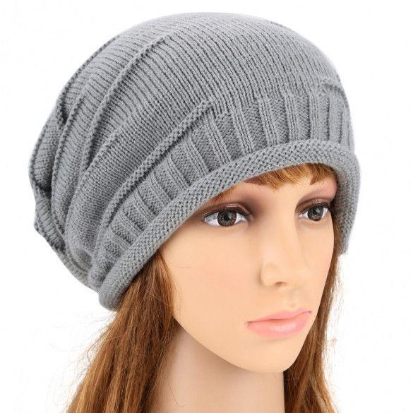 ANGVNS Fashion Unisex Elastics Warm Crochet Knit Beanie Hat Ski Hat Oversized Cap