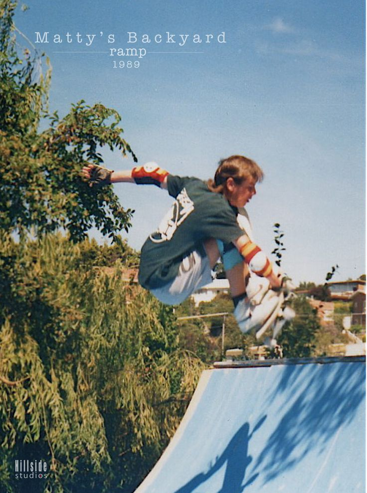 Matty's backyard ramp... this killer creation not only became a 'Cult Skate Spot' down here in Tassie, it was also the crews main gathering point for many an epic session day or night. Here's the man himself floating a tasty mute grab transfer over the spine. Thanks bud for sending me all the Oldschool pics SkullyBloodrider.