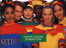 1980s United Colors of Benetton Ad. I loved Benetton when I was younger. Great clothes/- we were so cool lol