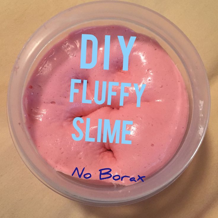 This is the fluffy slime I made and it is borax free I mostly eyed it but I used half a bottle of elmers glue a little bit of warm water shaving cream and food coloring which is totally optional then I used tide laundry detergent then needed it together and that is it!!!