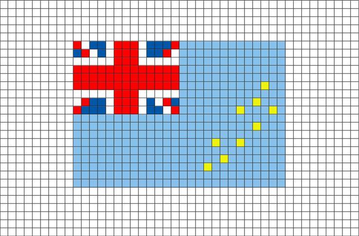 Flag of Tuvalu Pixel Art from BrikBook.com #Tuvalu #FlagofTuvalu #ElliceIslands #islandnation #Tuvaluan #pixel #pixelart #8bit Shop more designs at http://www.brikbook.com
