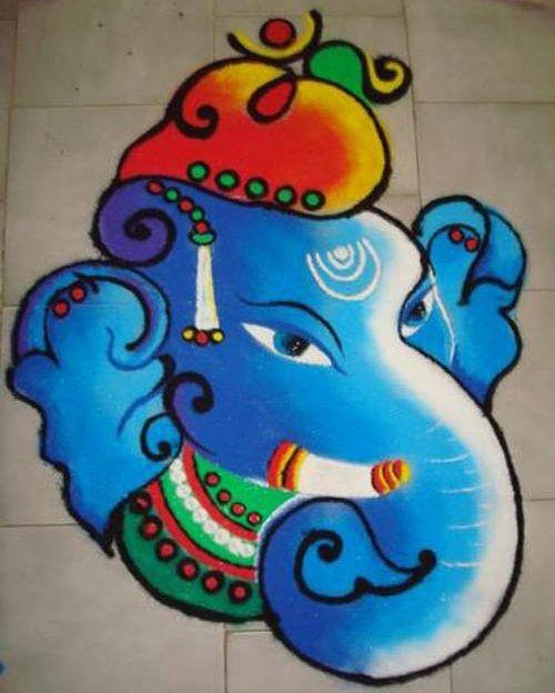 radha krishna rangoli - Google Search