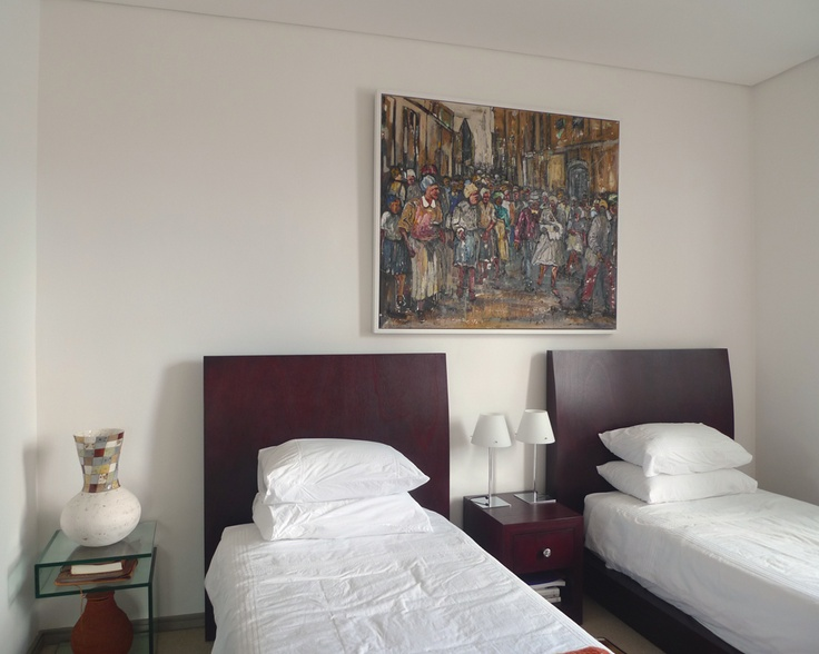 Adolf Tega is one of our 'hot' artists - his rich, textured works create a focal point in any room