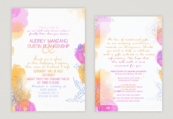 Wedding Divas Invitations Template: 1000+ Images About Design // Watercolor Theme Invite On