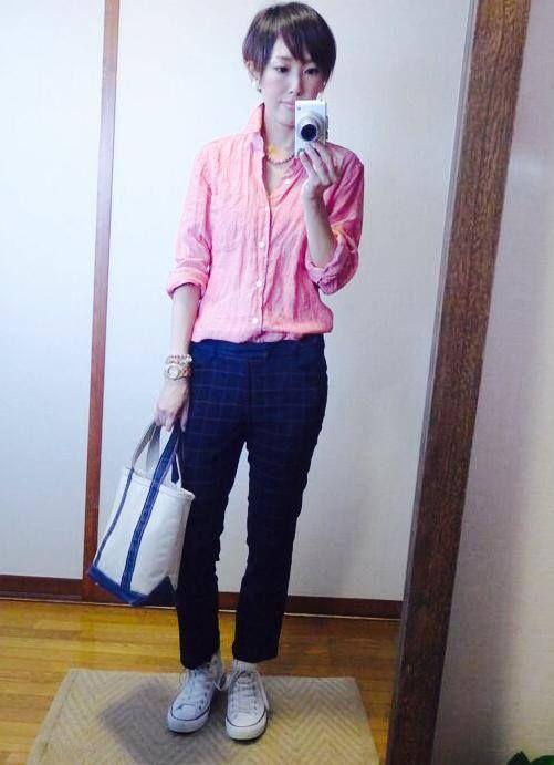 9月5日 UNIQLOメンズリネンシャツでピンク×ネイビーCDとピンクのカラーリングバリエの話