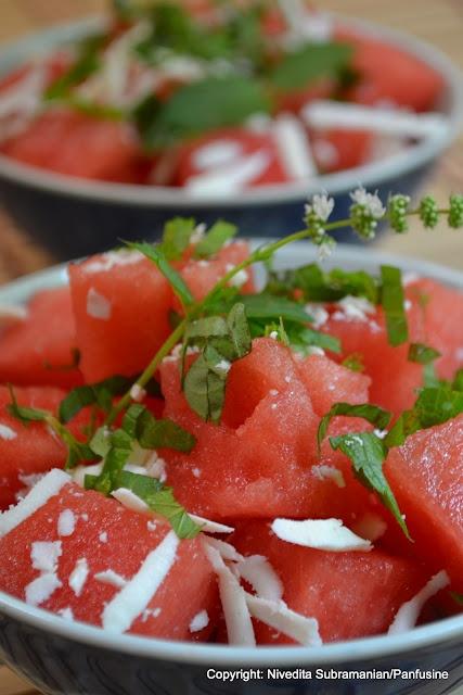 cucumber feta salad with fresh basil and mint c quick watermelon salad ...
