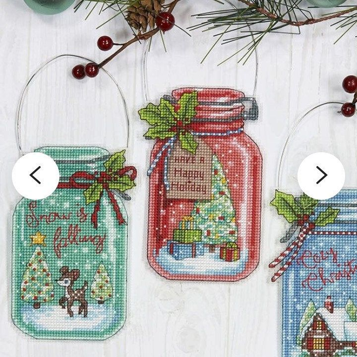 Cyber Sale Mini Cross Stitch Christmas Jars Pattern Cross Stitch Mini Christmas Ornament I Mini Christmas Ornaments Dimensions Cross Stitch Mini Cross Stitch