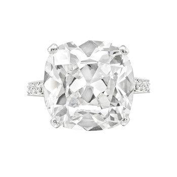 Estate Graff 10.04 Carat Cushion-Cut Diamond Engagement Ring: 10 04 Carat, 1004 Carat, Cushions Cut Engagement, Diamonds Rings, Antiques Cushions, 10 Carat, Carat Cushions Cut, Diamonds Engagement Rings, Cushions Cut Diamonds